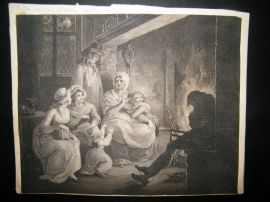 Peltro Tomkins aft. William Hamilton 1793 Stipple & Etching. Genre. Thompson